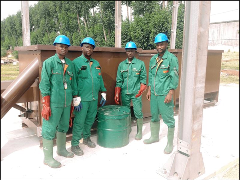 Installation de composteurs chez ENI-Congo